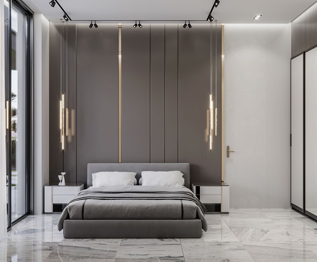 Villa Mardakan On Behance In 2021 Modern Master Bedroom Design Bedroom Interior Interior Design Bedroom Bedroom bad design 2021