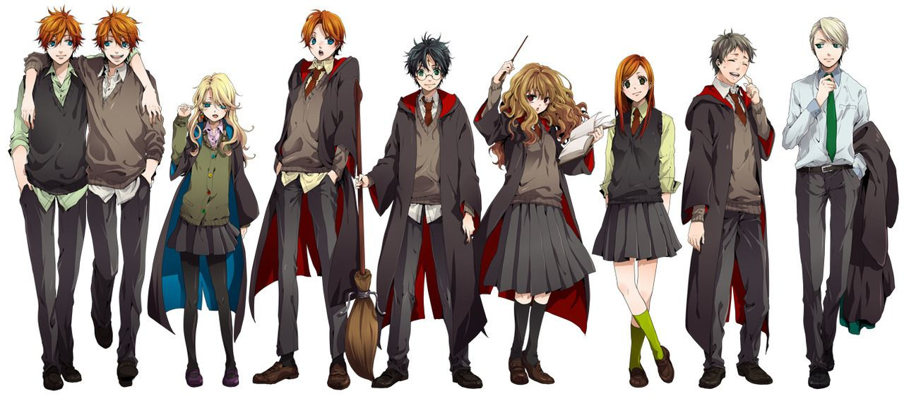 harry potter valentine pictures | ... : Fred y George, Luna, Ron, Harry, Hermione, Ginny, Neville y Draco