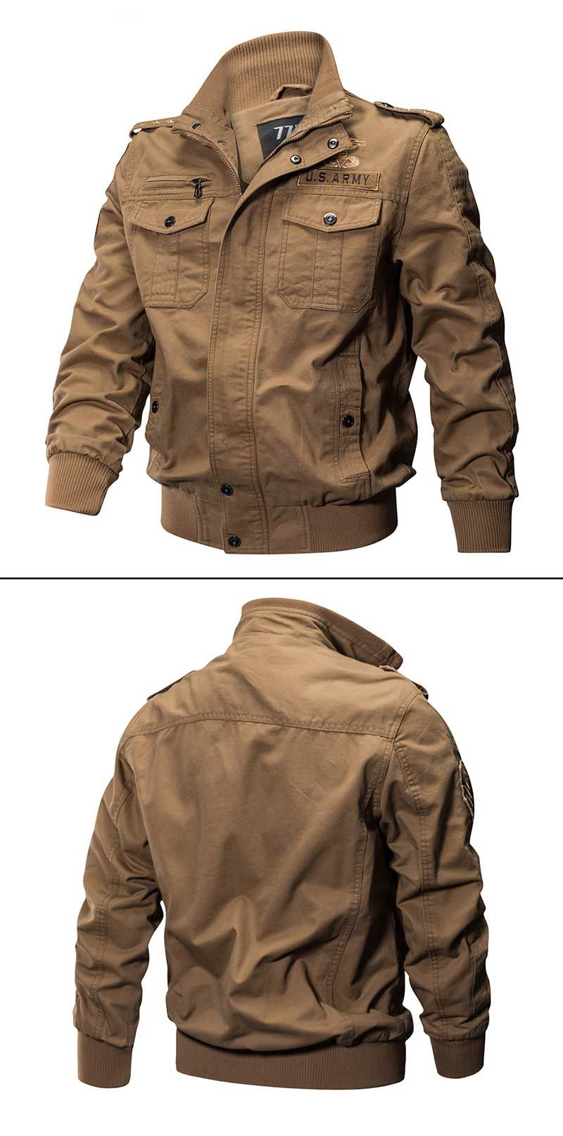 Washed Cotton Military Tactical Jacket Cool Jackets For Men Tactical Jacket Mens Jackets [ 1615 x 800 Pixel ]