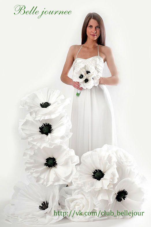 Свадебный декор для фотосесии, выездной регистрации, украшения банкетного зала #Paperflowers