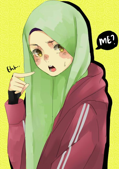 Ehh... ME? by TikTokXII on DeviantArt | Anime muslimah ...