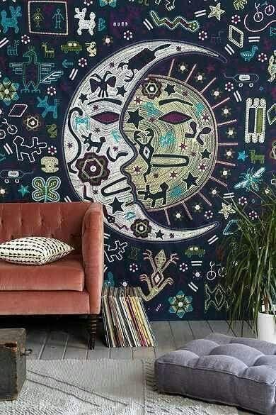 American hippie boh me boho lifestyle decoraci n en for Decoracion de murallas interiores