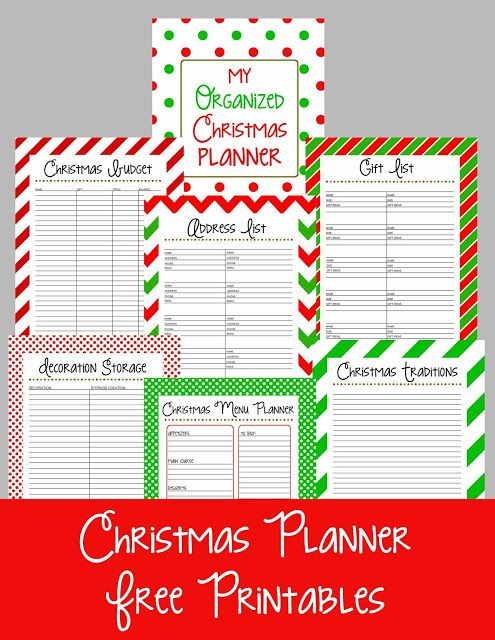 Christmas Planner Free Printables DIY Holiday Ideas Christmas