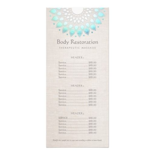 Blue Lotus Health and Wellness Price List Menu | Pinterest | Price ...