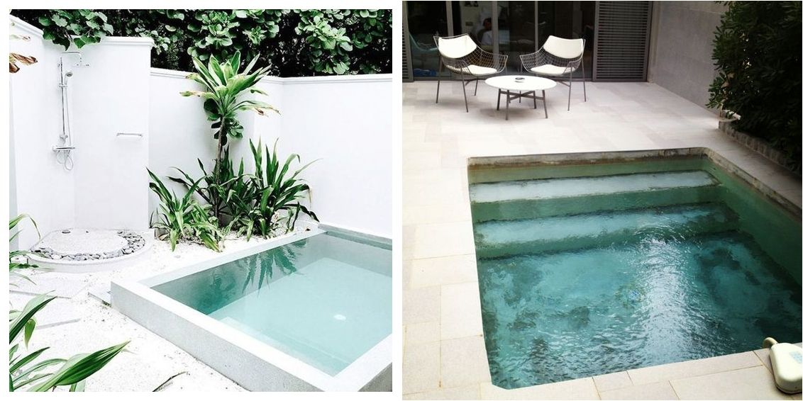 Piscinas peque as para patios peque os en 2019 jardin for Piscinas desmontables para patios pequenos