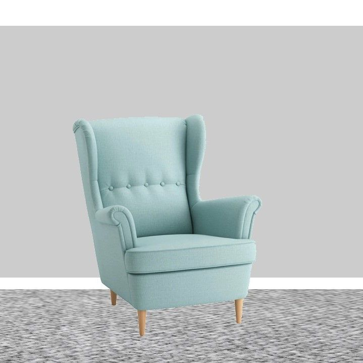 Strandmon Wing Chair Skiftebo Light Turquoise In 2019 My Flat 3