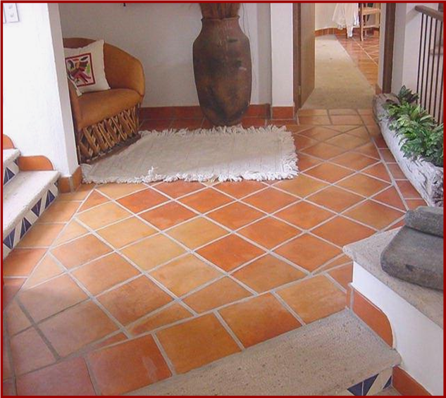 Pisos de barro micasa pinterest haciendas patios for Losetas para pisos interiores