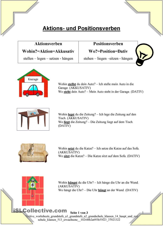 Wechselpräpositionen 2   German Things   Pinterest   Deutsch ...