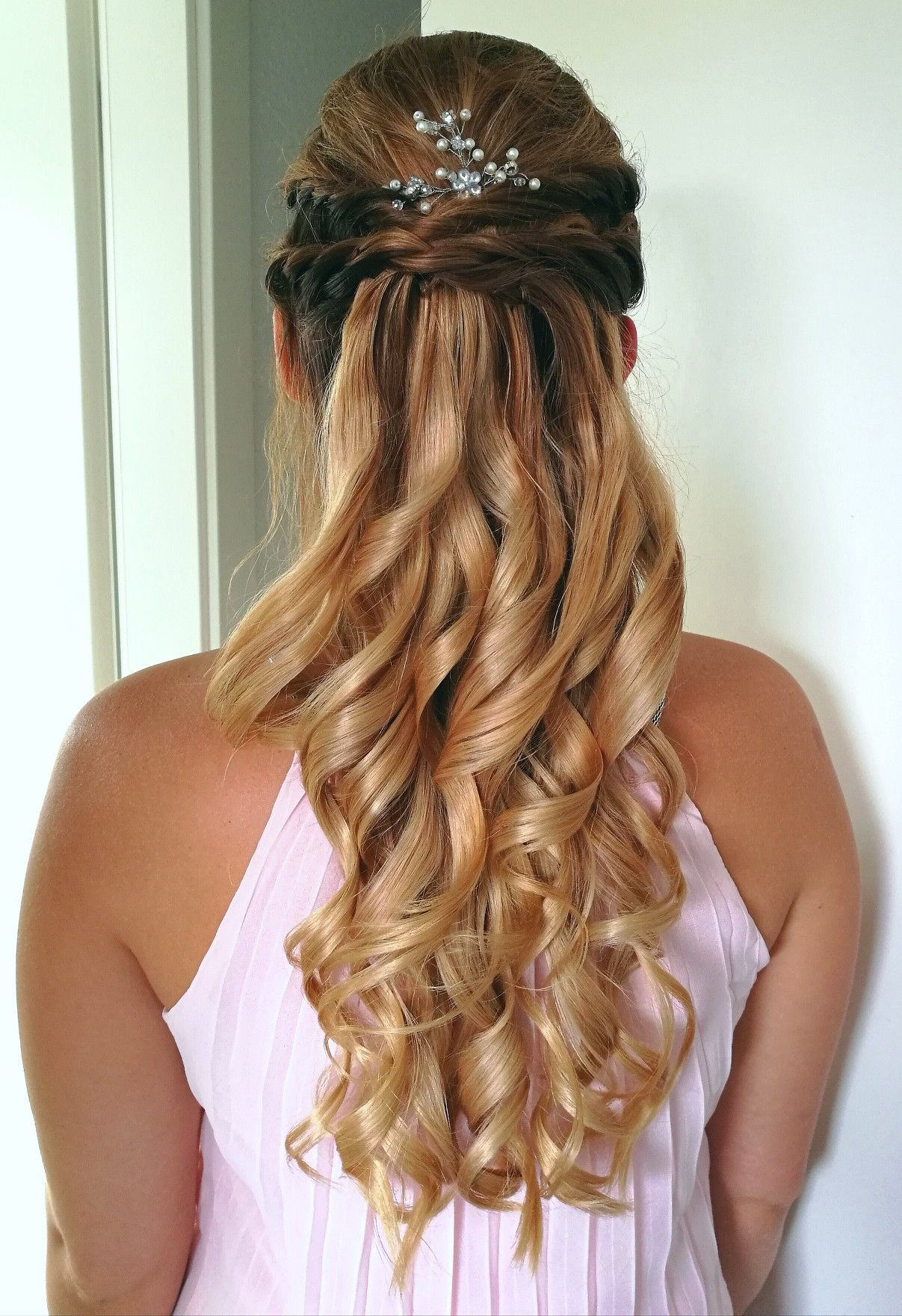 Bridesmaid hairstyle longhair hairstyle braid made by myself