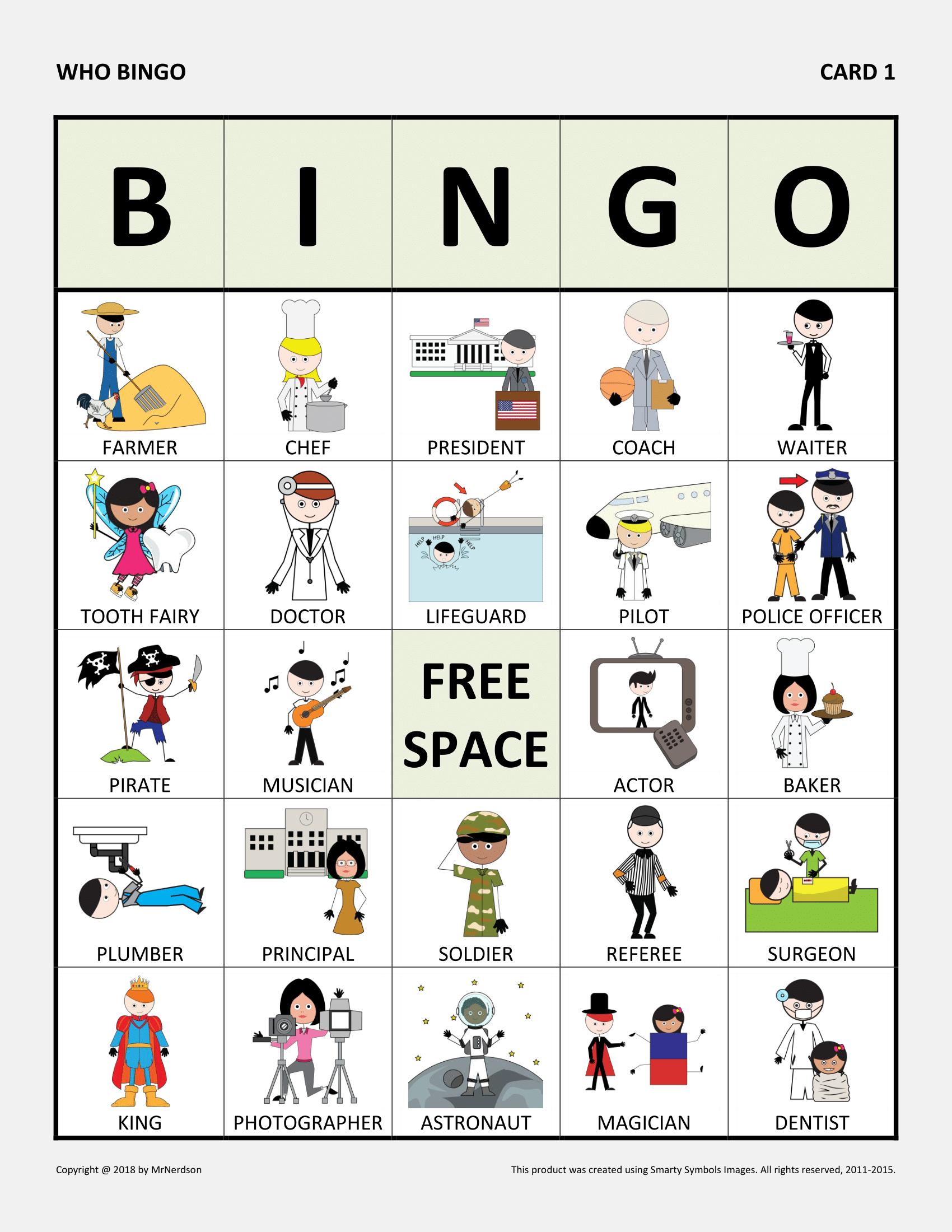 Who Bingo