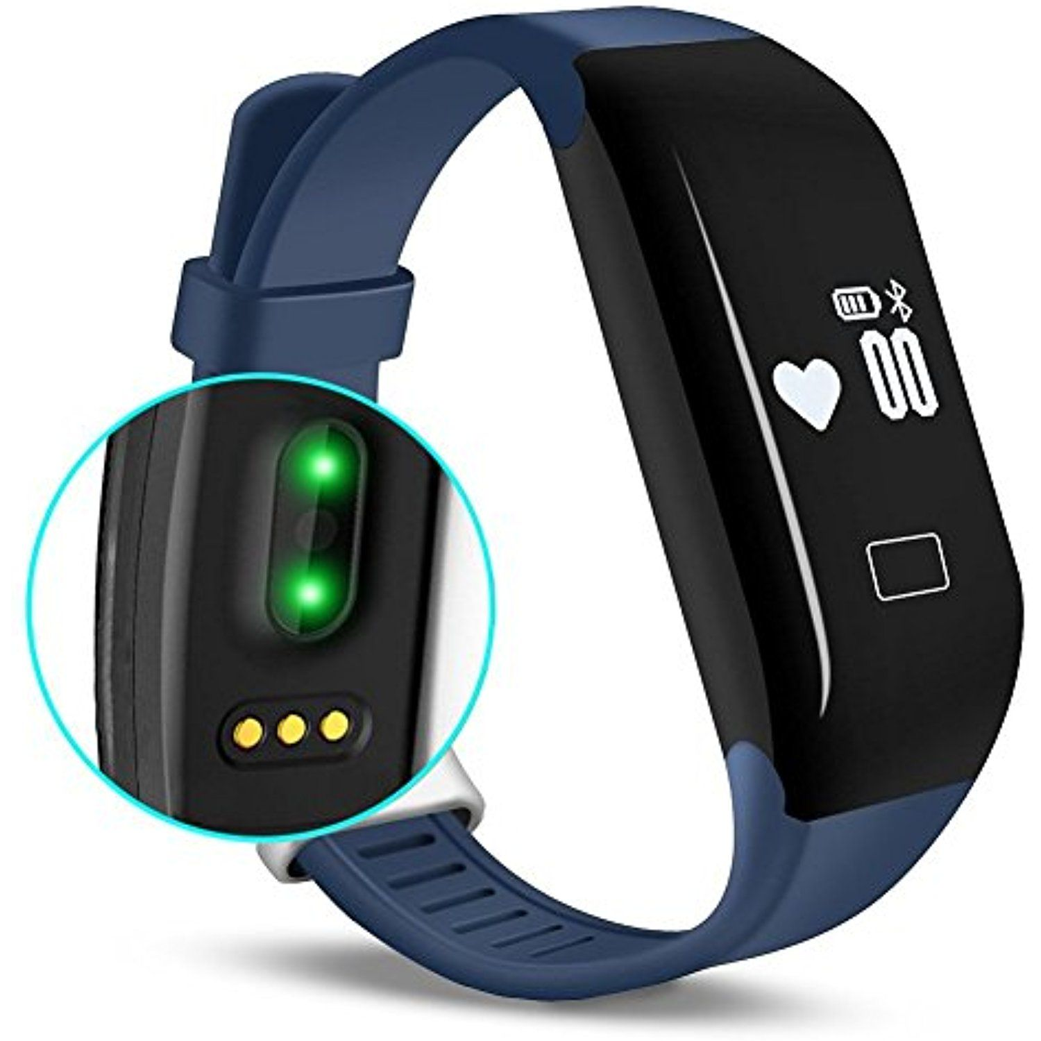 Kassica Waterproof Health Fitness Tracker with Heart Rate
