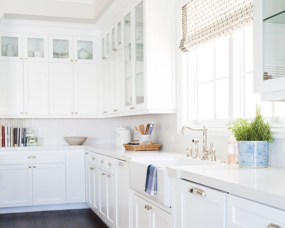 White Kitchen Cabinets With Silver Hardware Silver Hardware Roundup | White kitchen design, Classic kitchens