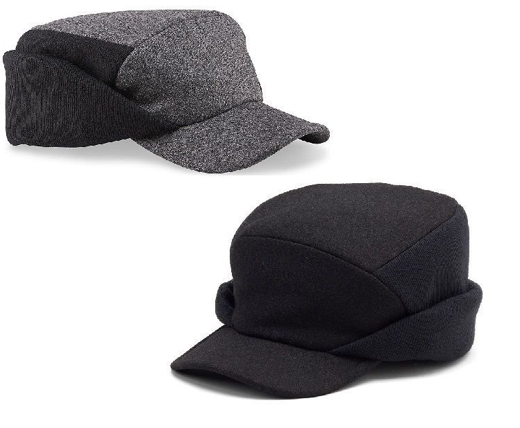 b0e0f53bde96d Dockers Mens Hat ear flap cadet cap black wool polyester size S-M L-XL NEW