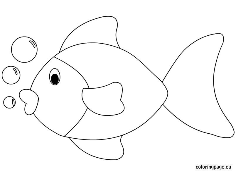 Fish Coloring Sheet Fish Coloring Page Rainbow Fish Coloring Page Coloring Sheets