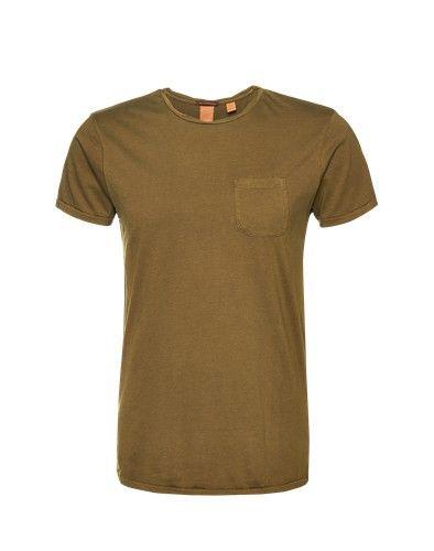 SCOTCH & SODA T-Shirt mit Brusttasche khaki