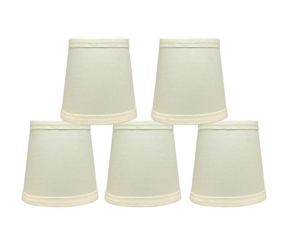 Cotton Chandelier Mini Lamp Shades Clip On Hardback Eggshell 3 X4 X4 Set Of 5 Chandelier Lamp Shades Mini Lamp Lamp Shades