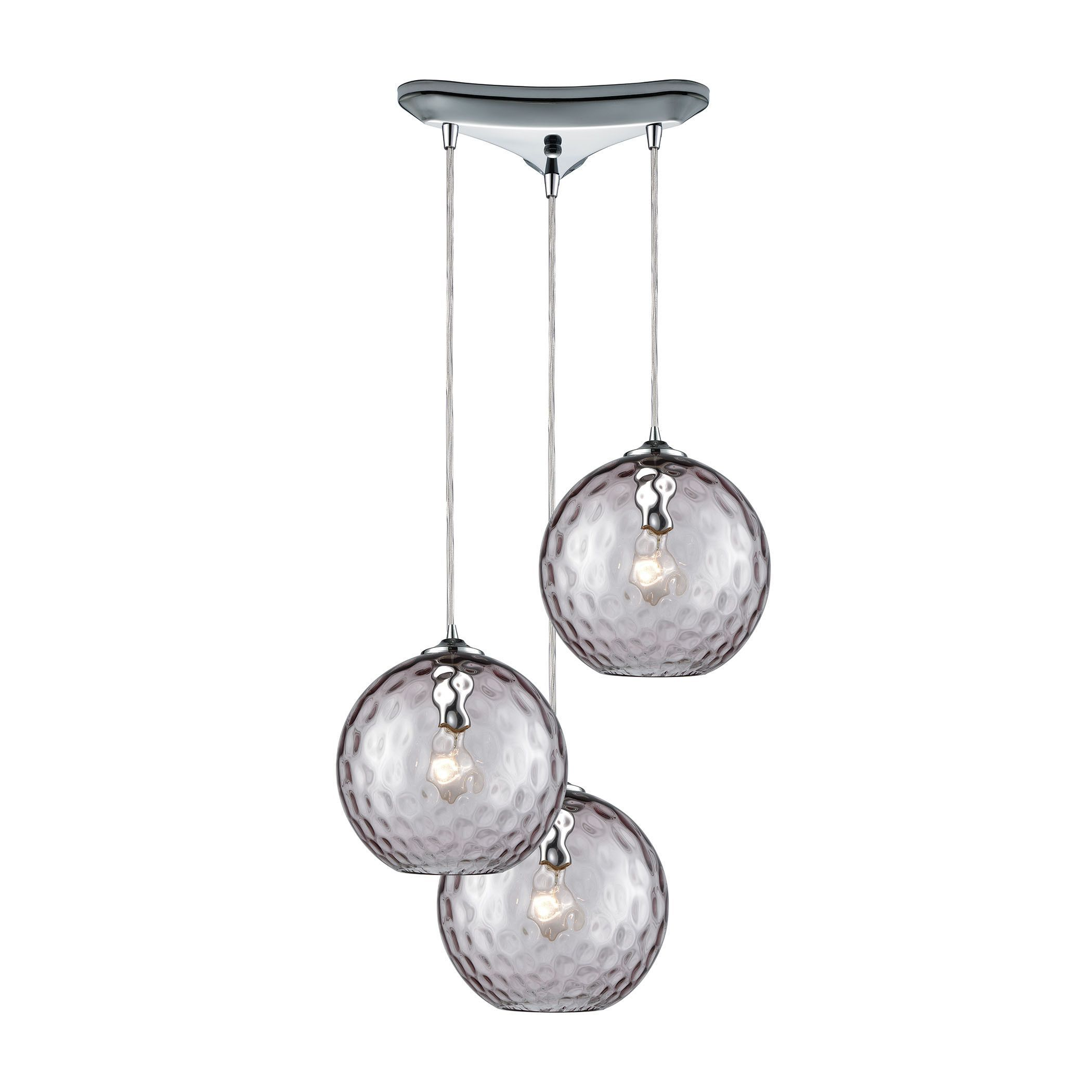 Watersphere 3 Light Triangle Pan Fixture In Polished Chrome With ...