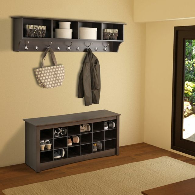 Mueble zapatos madera color oscuro - Mueble para zapatos ...