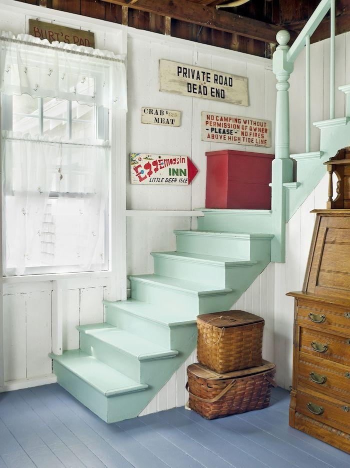 ▷ 1001 + techniques et idées pour relooker un escalier à moindre coût - peinture pour relooker meuble en bois