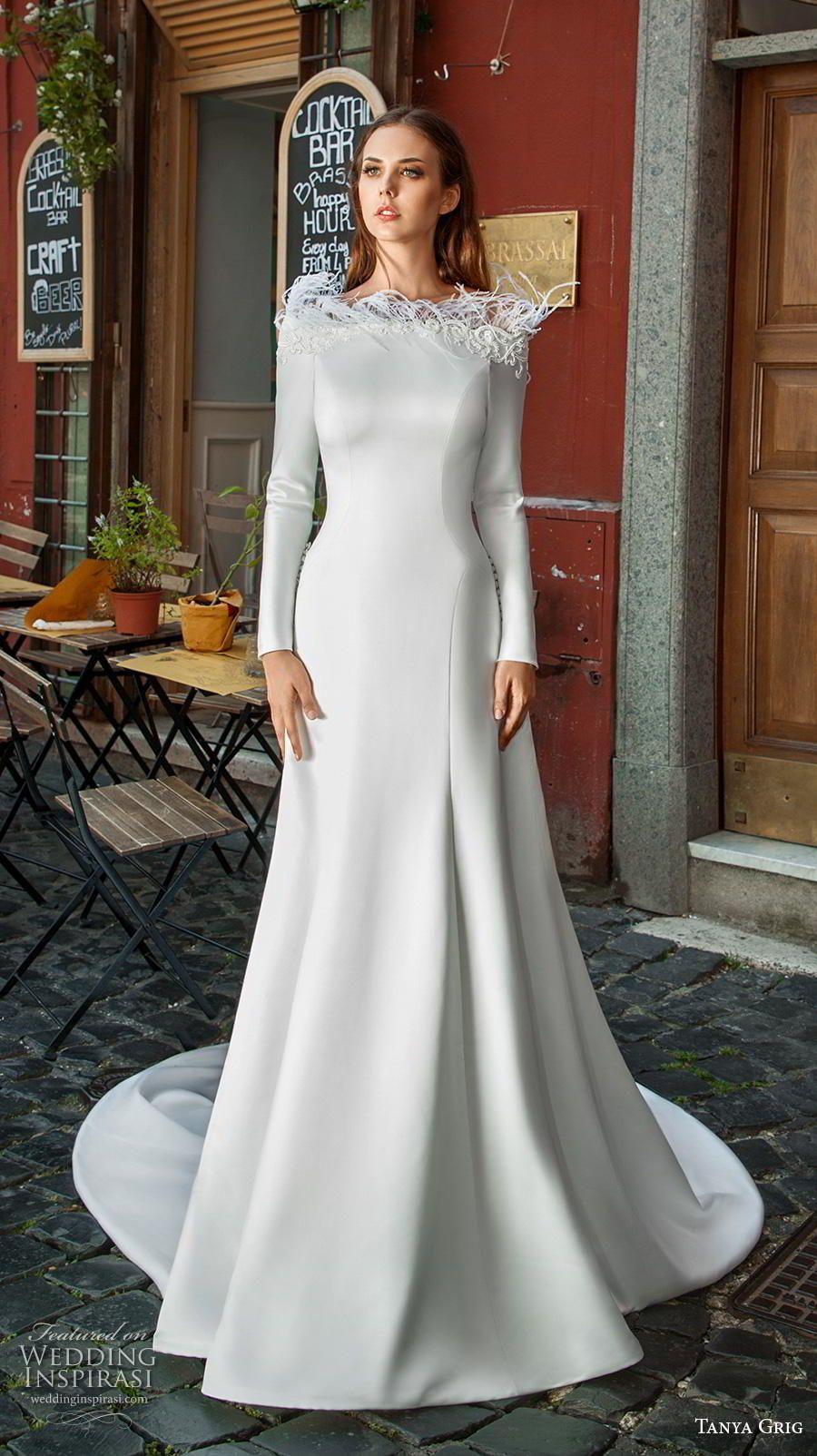 Tanya Grig 2019 Wedding Dresses Roman Holiday Bridal Collection Wedding Inspirasi Bridal Dresses Lace Minimalist Wedding Dresses Wedding Dress Long Sleeve [ 1604 x 900 Pixel ]