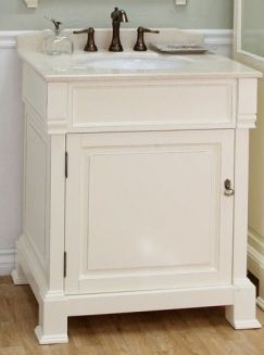 Peachy 30 Inch Single Sink Bathroom Vanity In Cream White Home Remodeling Inspirations Cosmcuboardxyz