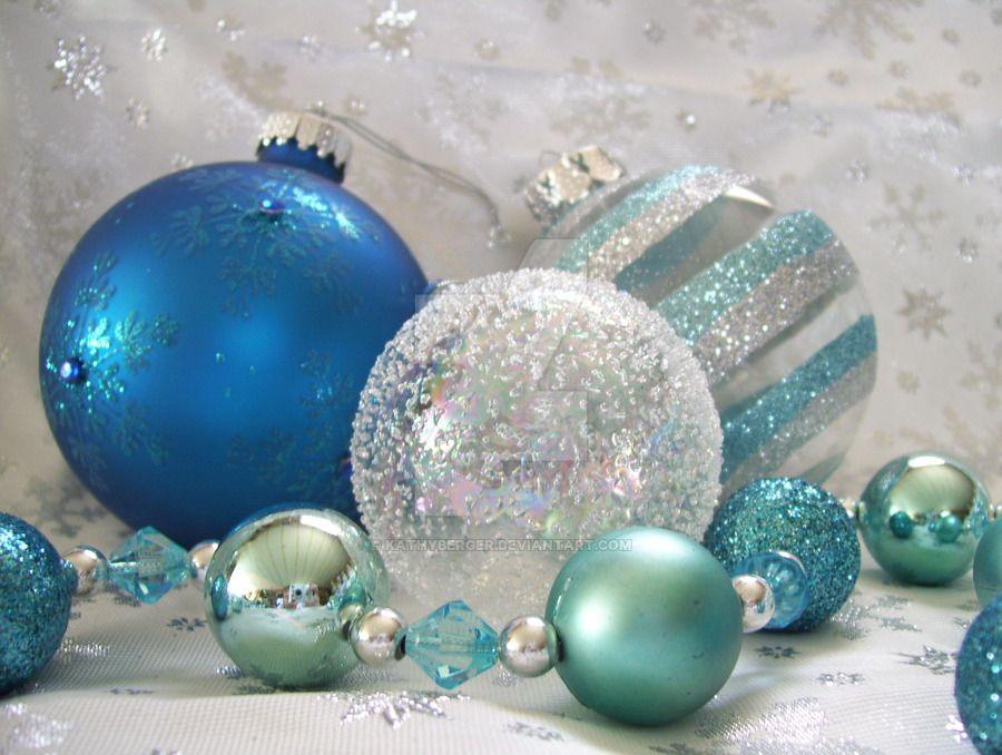 Blue Christmas Ornaments | Blue christmas, Aqua christmas ...