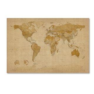 Michael tompsett antique world map canvas wall art overstock michael tompsett antique world map canvas wall art overstock shopping gumiabroncs Choice Image