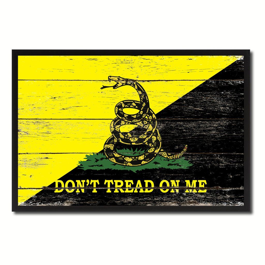Gadsden Don\'t Tread on Me Military Flag Vintage Canvas Print with ...