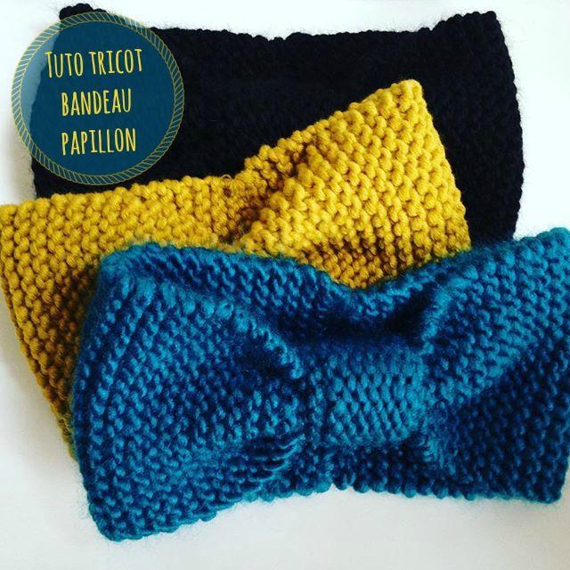 6e29a31f9016 Tuto tricot bandeau papillon spécial tricoteuse débutante. Bandeau facile à  réaliser en Drops Andes, disponible dans les magasins Atelier de la Création
