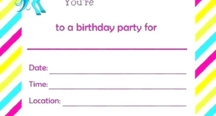 Rainbow And Unicorn Birthday Invitation Wording