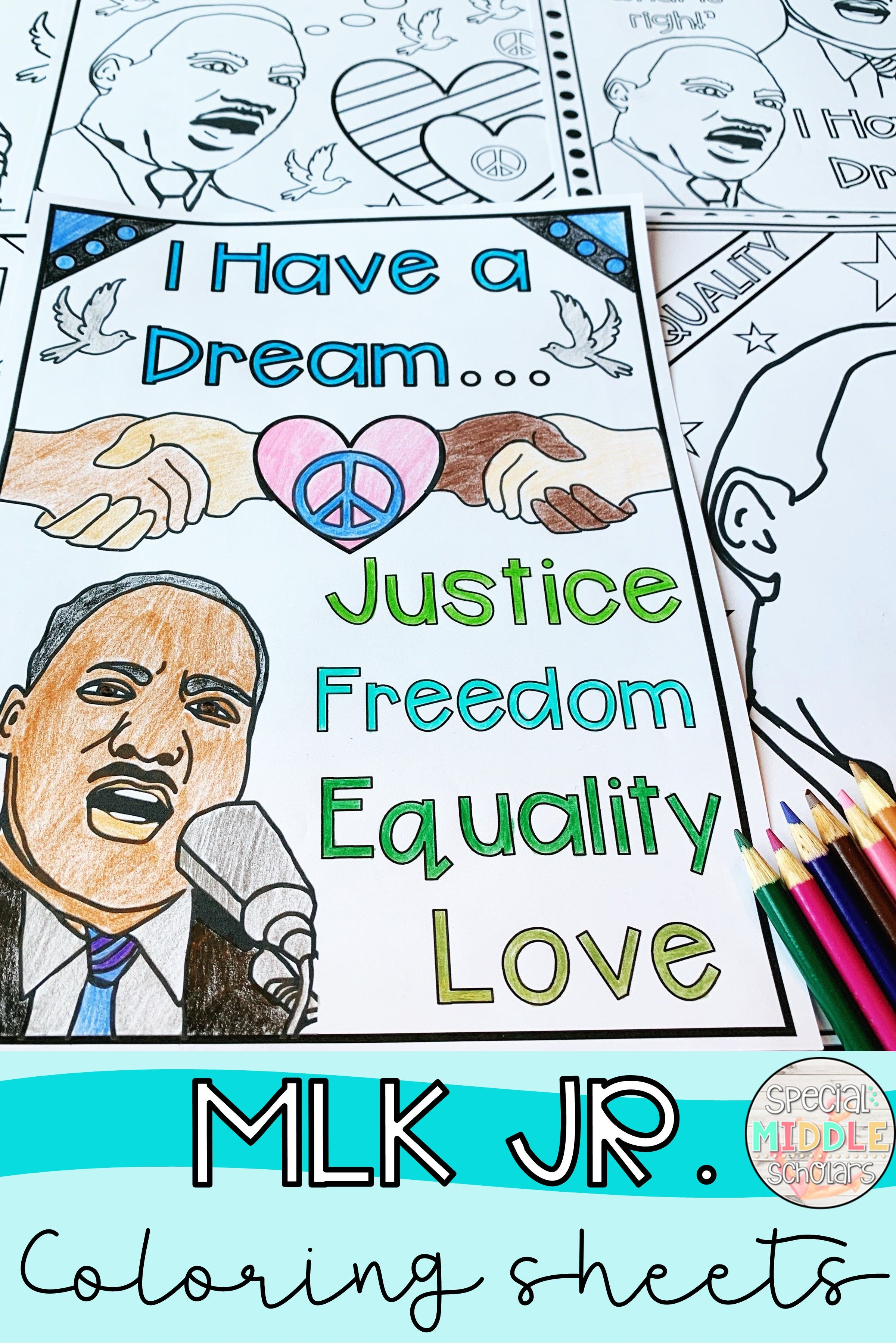Martin Luther King Jr. Coloring Activity
