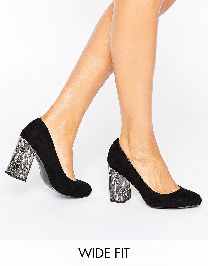 Zapatos negros de punta abierta New Look para mujer uH3pB