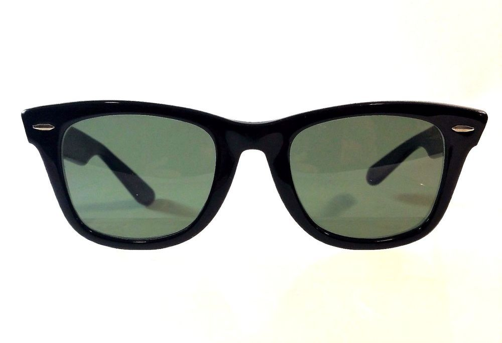 7c823d47bca5 Vtg 70 s or 80 s B L RAY-BAN USA 5022 Black Wayfarer Sunglasses Bausch    Lomb  RayBan  Rectangular