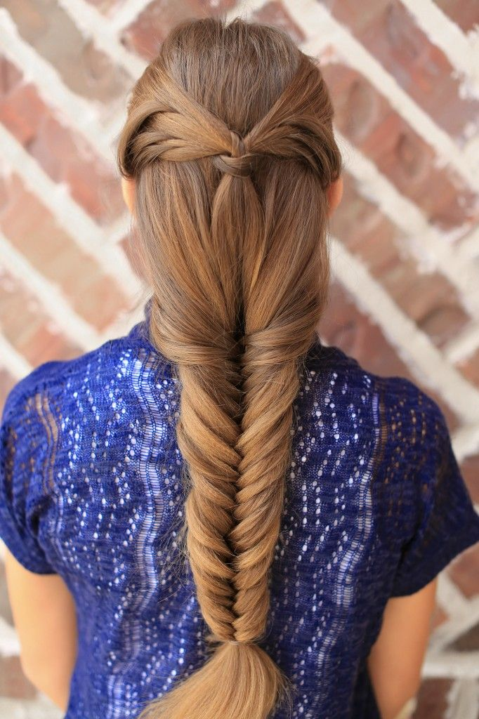 Hairstyles For Prom Cgh : Angel wing fishtail combo hairstyle cute girls hairstyles