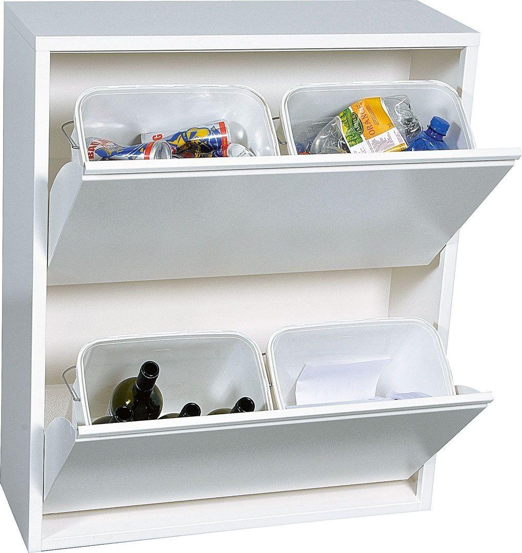 poubelle tri s lectif 4 bacs cuisine exterieure. Black Bedroom Furniture Sets. Home Design Ideas