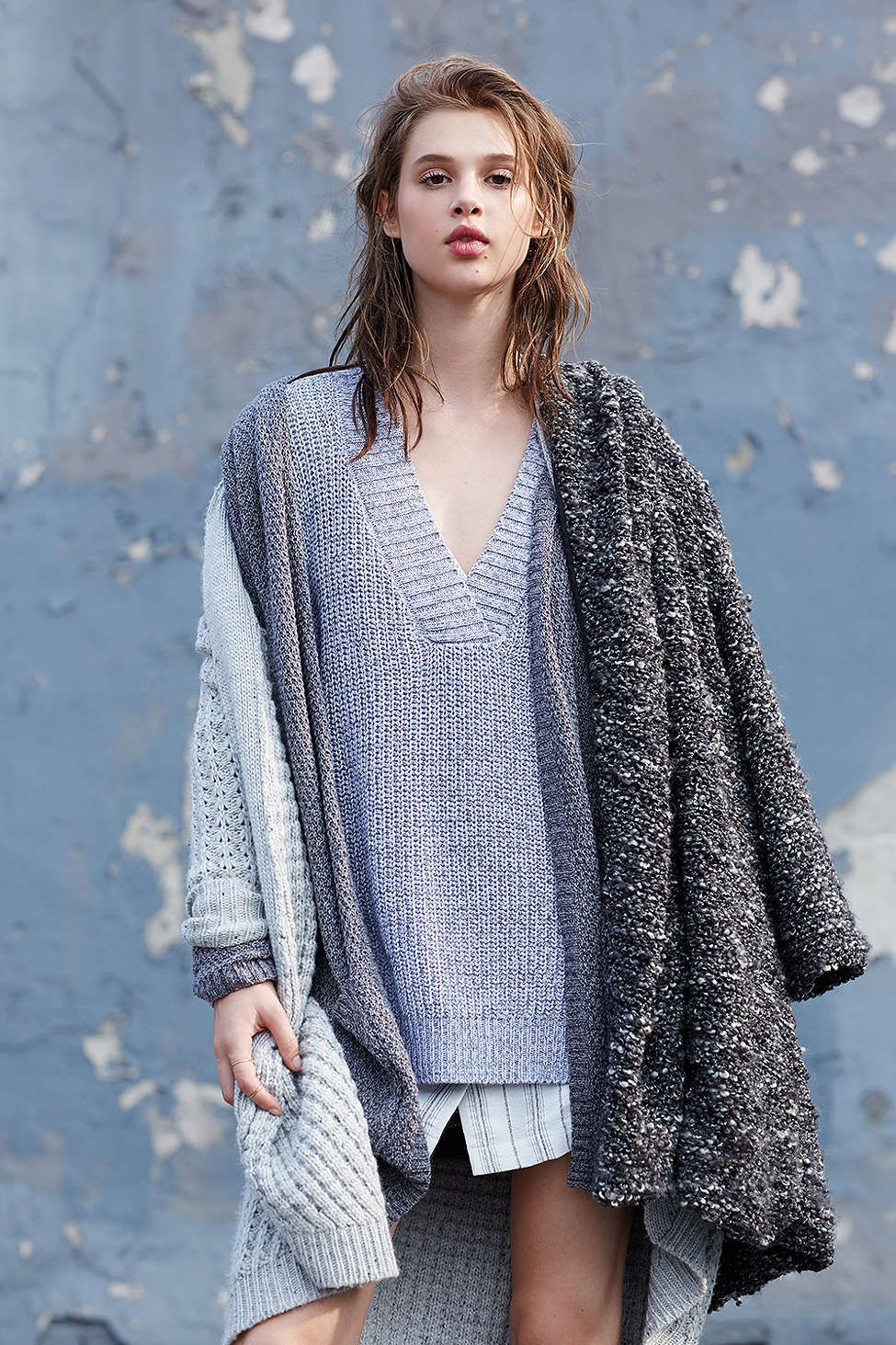 Silence + Noise Cool Down V-Neck Sweater
