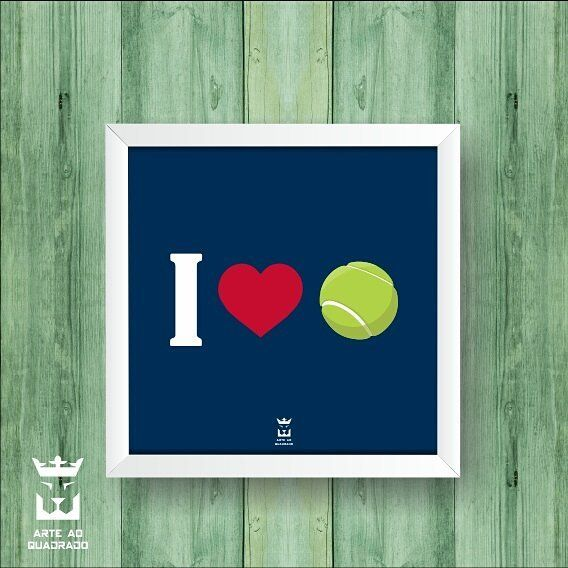"""89 curtidas, 3 comentários - Decoração - Arte ao Quadrado 🦁 (@arteaoquadrado.oficial) no Instagram: """"I ❤ 🎾  #arteaoquadrado #arte #decoração #decor #inspiração #quadros #quadrospersonalizados #tennis…"""""""