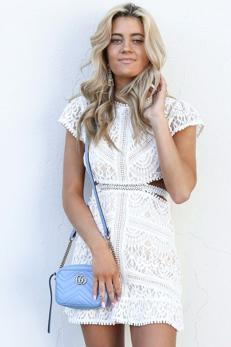 2019 year for lady- White Amazing lace dresses
