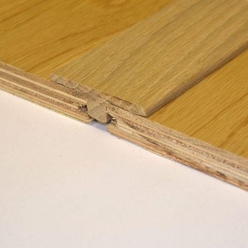 Unfinished Solid Oak T Shaped Threshold 90 Cm Solid Oak Solid Wood Flooring Flooring