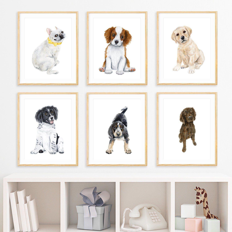 Puppy Nursery Prints Baby Room Decor