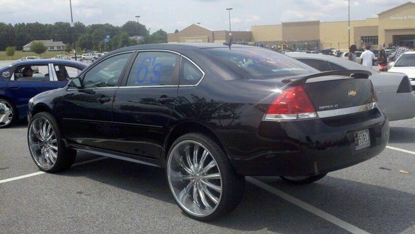 Impala Black On 24s Da Donks Impala Chevrolet Cars