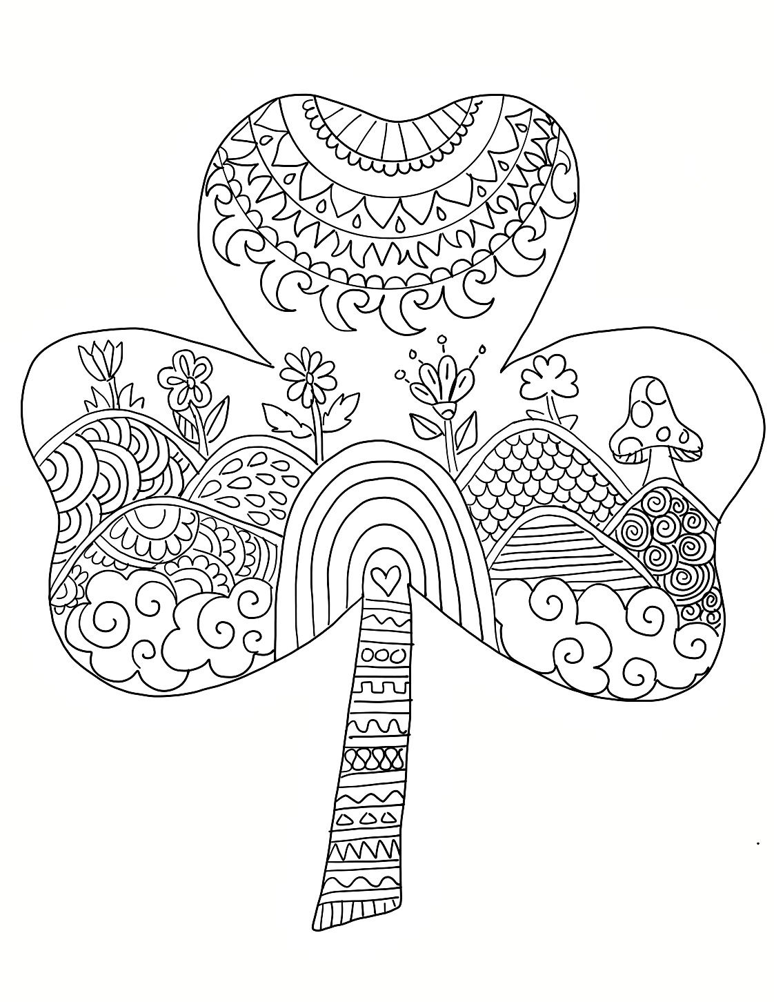 St Patrick S Day Coloring Pages For Adults Ivedi Preceptiv