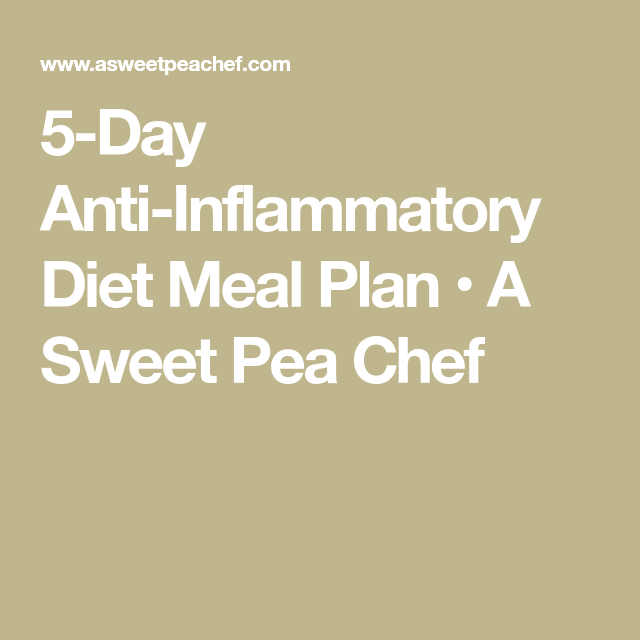 5 Day Anti Inflammatory Diet Meal Plan Recipe Anti Inflammatory Diet Meal Plan Anti Inflammatory Diet Diet Meal Plans