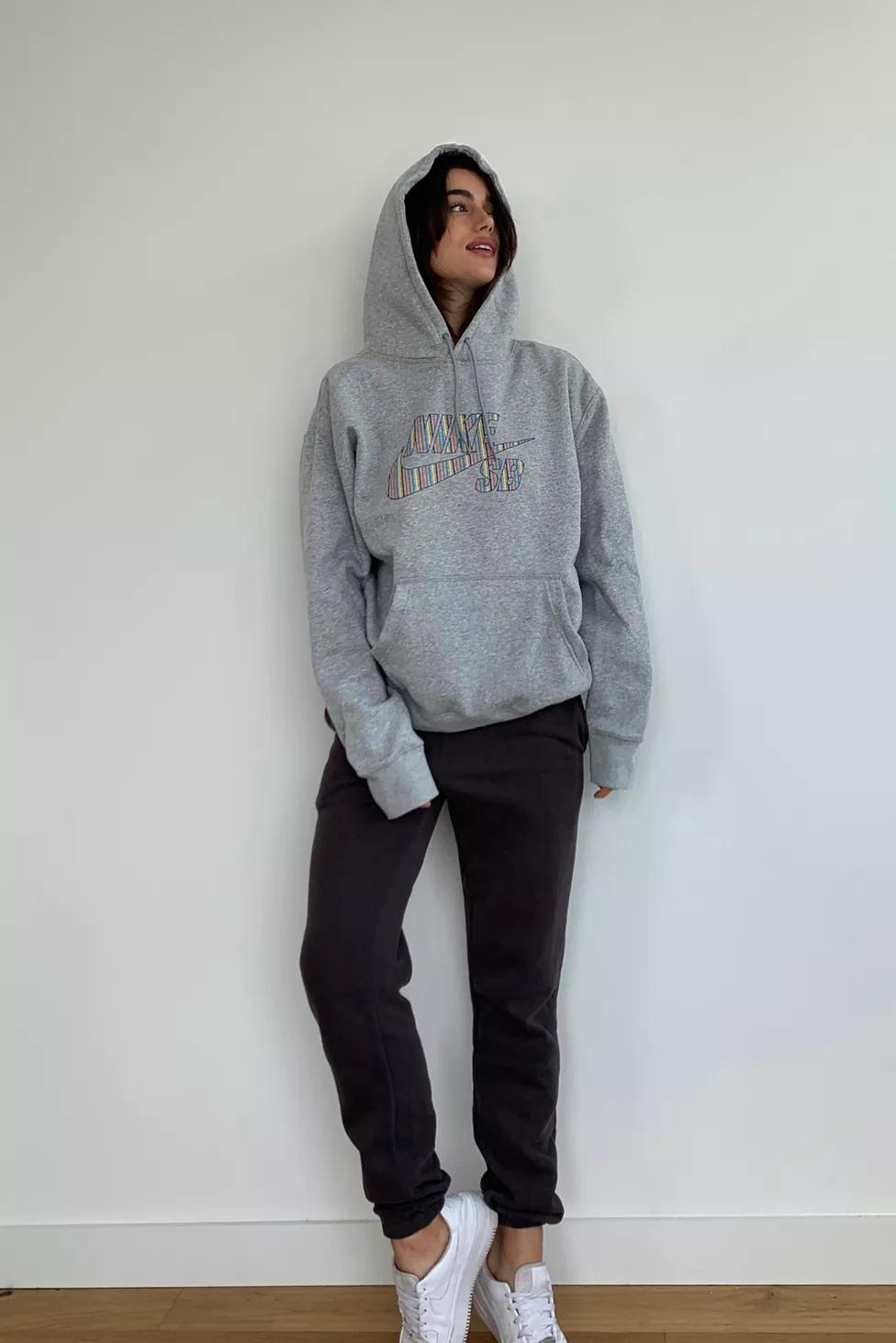 Nike Skateboard Striped Logo Hoodie Sweatshirt Urban Outfitters Sweatshirts Hoodie Sweatshirts Hoodies [ 1463 x 976 Pixel ]