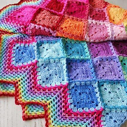 Crochet+For+Children:+Happy+Harlequin+Blanket+(Free ...