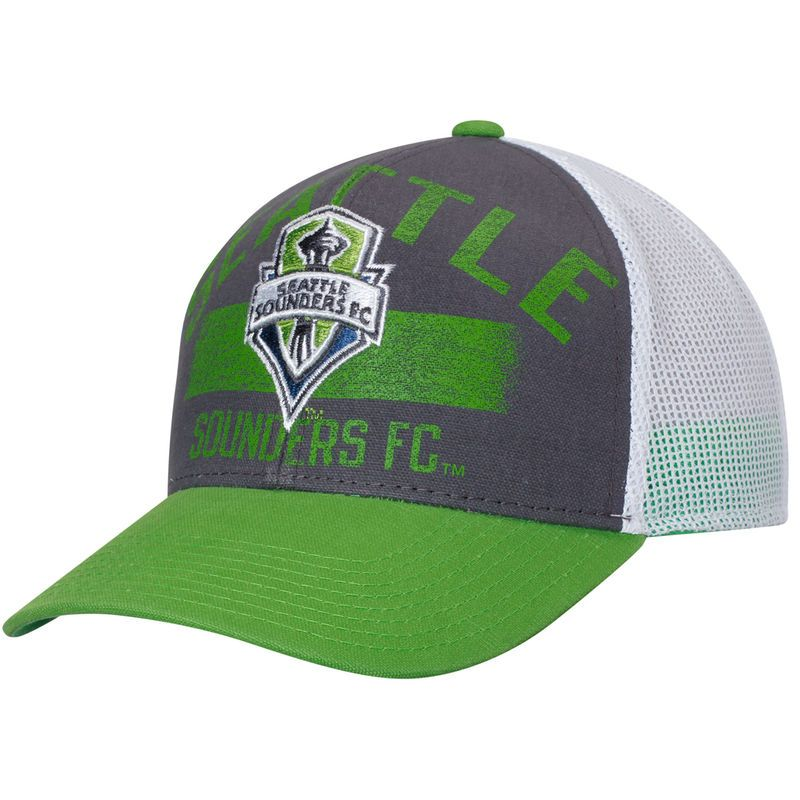 reputable site 98961 89d92 Seattle Sounders FC adidas Trucker Adjustable Hat - Pacific Blue Rave Green
