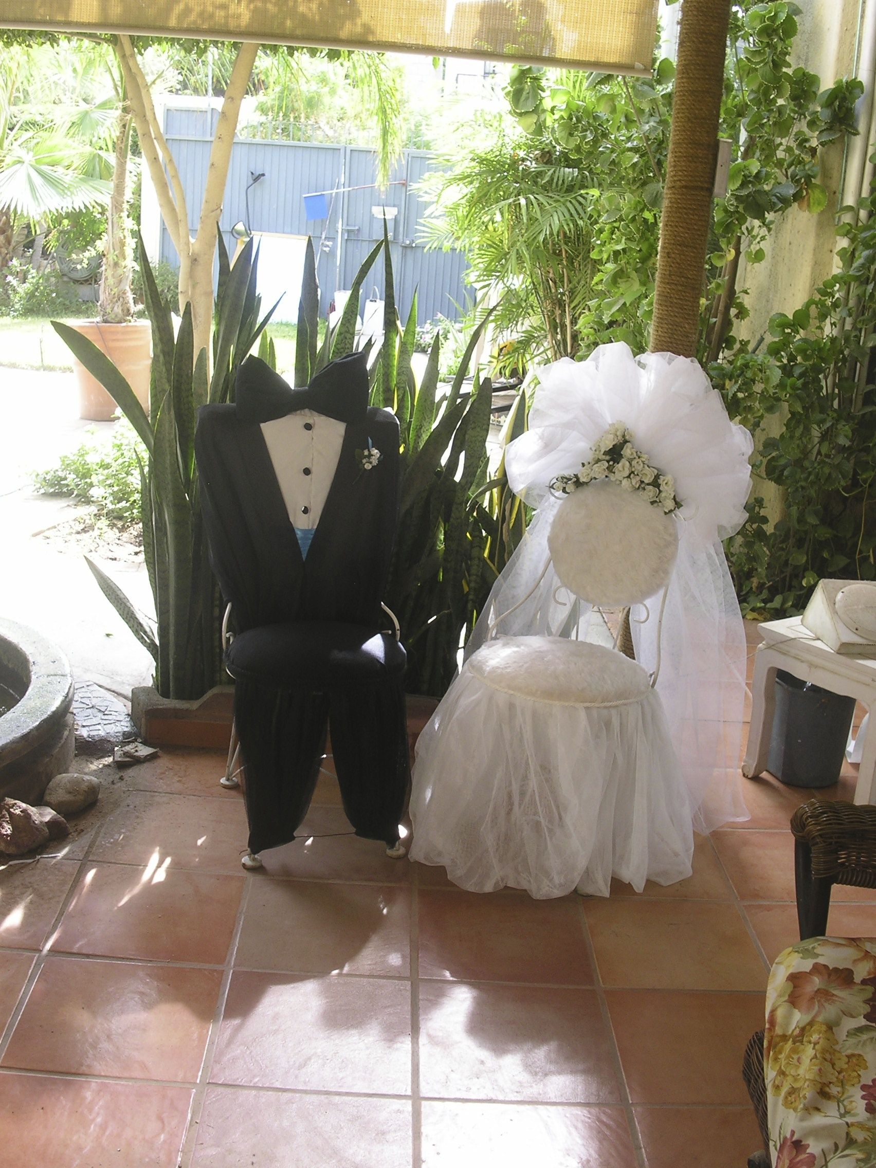 bride and groom chair for couples wedding shower
