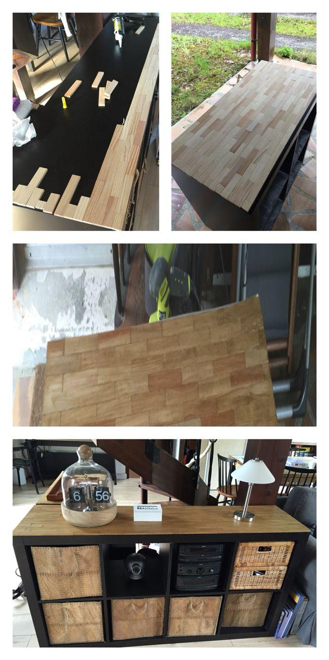 Ikea Tuning tuning de meuble expedit ikea avec des kapla récupérés dans un