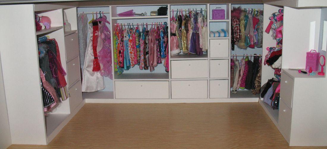 C mo hacer un armario para la ropa de las mu ecas hecho - Como revestir un armario ...