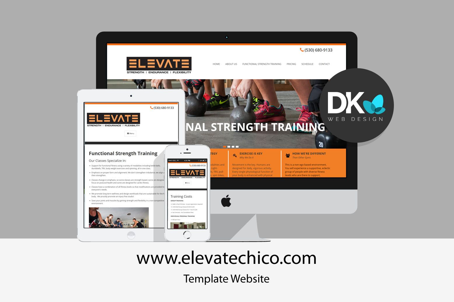 Template Website Design Elevate Chico Website Template Design Website Template Website Design